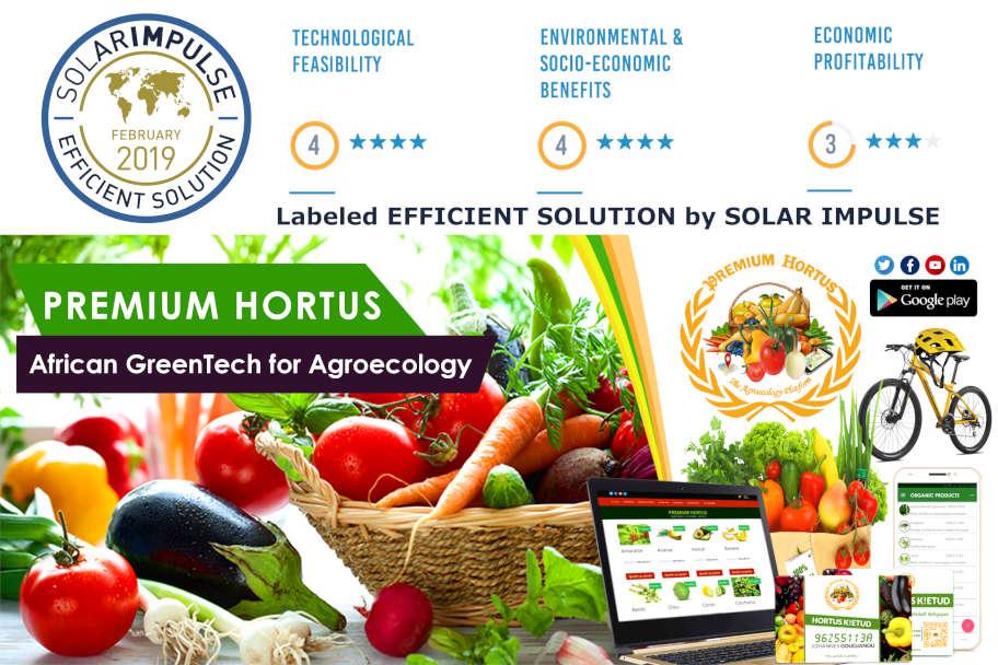 Leader technologique de l'Agroécologie au Bénin et en Afrique, PREMIUM HORTUS disponible sous forme variée de site web,mobile App,blockchain et produits BIO. PREMIUM HORTUS est certifiée EFFICIENT SOLUTION